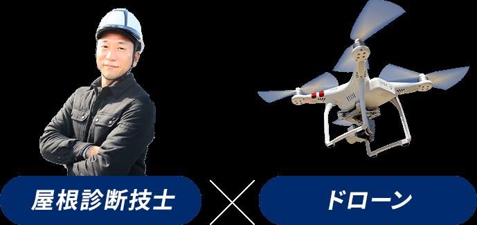 屋根診断技士×ドローン