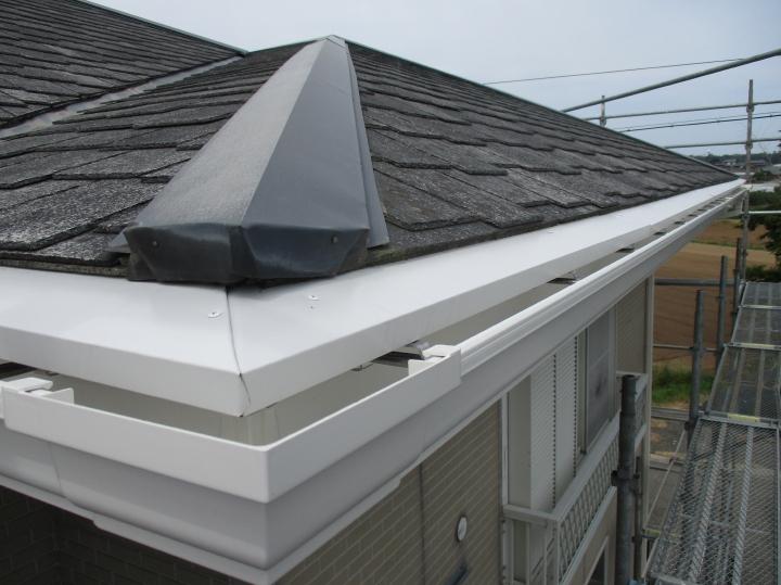 坂井市三国町 T様邸 雪害による雨樋修理、太陽光パネル修理事例