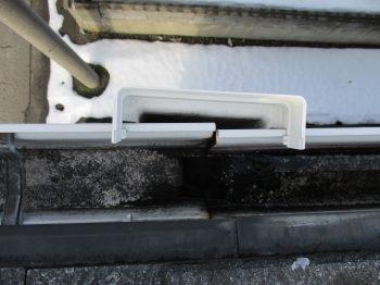 集水器も雪の影響で破損した模様です。